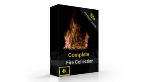 4k fire effect product packaging